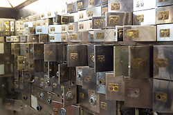 EDITORIAL USE ONLY<br /> Safety deposit boxes at the Hatton Garden Safe Deposit, in Hatton Garden, London, which was at the centre of a high profile heist in 2015 by a gang of career criminals who stole £14 million worth of jewels.