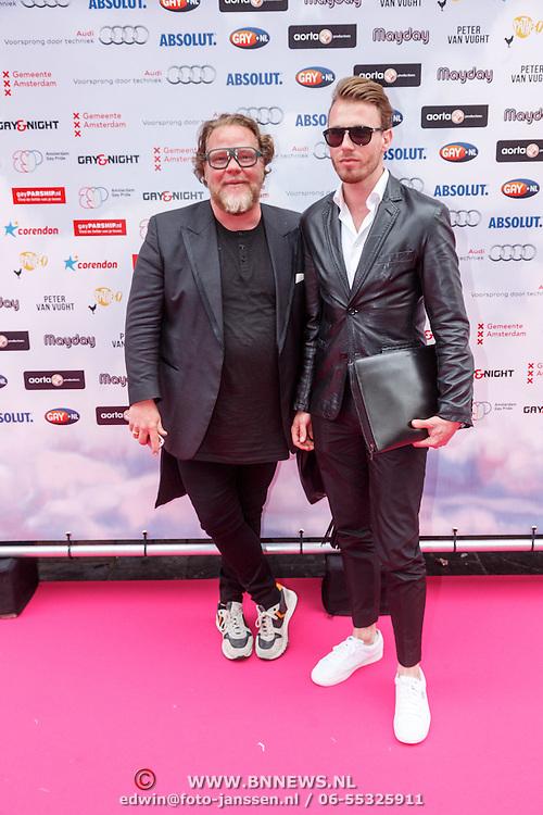 NLD/Amsterdam/20150629 - Uitreiking Rainbow Awards 2015, Bas van Schaik en ............