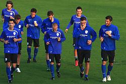 Branko Ilic (18),  Marko Suler (4), Zlatko Dedic (14), Ales Mejac, Valter Birsa (10),Miso Brecko (2), Andraz Kirm, Anton Zlogar (16) and Bostjan Cesar (5) at practice of Slovenian men National team, on October 13, 2008, in Domzale, Slovenia.  (Photo by Vid Ponikvar / Sportal Images)