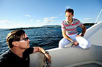 Friidrett , 31. Mai 2014, Pressetreff på båt i Oslofjorden i forbindelse med Exxon Mobile Bilsett Games<br /> Renaud Lavillenie , Stavhopper , Frankrike <br /> Foto: Sjur Stølen / Digitalsport