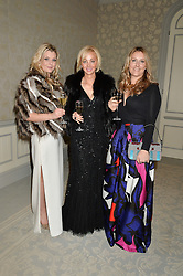 Left to right, REBECCA FLETCHER-CAMPBELL, NATALIA ROTENBERG and PHILIPPA NIXON at the Gift of Life Gala Ball celebrating the Russian Old new Year's Eve in aid of the Gift of Life foundation held at The Savoy, London on 13th January 2015.