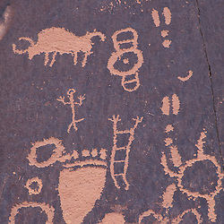 Newspaper Rock, S.P., UT.Near Monticello.  Petroglyphs.