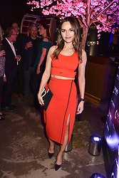 Maria Hatzistefanis at the launch of Nobu Hotel London Shoredith,10-50 Willow Street, London, England. 15 May 2018.