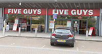 Five Guys at Xscape in Milton Keynes has <br /> re-open <br /> for both take away and Deliveroo home delivery orders photo by  Brian Jordan