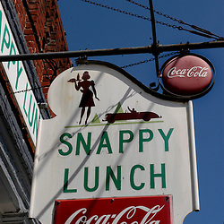 Mt. Airy, NC- Mt. Airy's Snappy Lunch, serving the famous fried pork chop sandwich since 1923...
