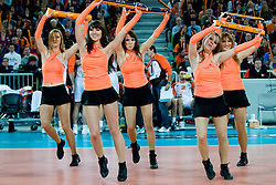 Cheerleaders Ladies during volleyball match between ACH Volley (SLO) and Jastrzebski Wegiel (POL) in 6th Round of 2011 CEV Champions League, on January 12, 2011 in Arena Stozice, Ljubljana, Slovenia. (Photo By Matic Klansek Velej / Sportida.com)