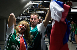 Slovenian fans before the EuroBasket 2009 Semi-final match between Slovenia and Serbia, on September 19, 2009, in Arena Spodek, Katowice, Poland.  (Photo by Vid Ponikvar / Sportida)