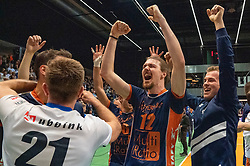 12-05-2019 NED: Abiant Lycurgus - Achterhoek Orion, Groningen<br /> Final Round 5 of 5 Eredivisie volleyball, Orion wins Dutch title after thriller against Lycurgus 3-2 / Steven Mcdonald #12 of Orion