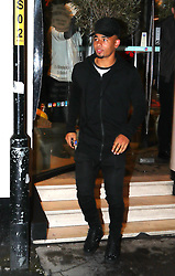 19.10.17….. Man City's Gabriel Jesus and friends went for dinner at San Carlo Italian Restaurant in Manchester on Thursday night.