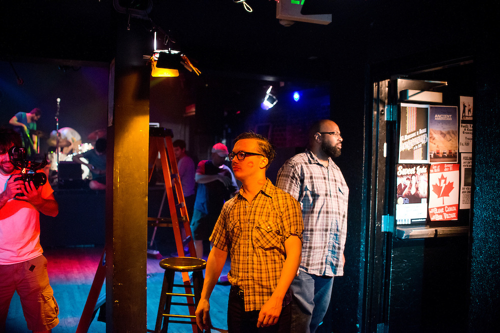 photo by Matt Roth. .Music video production stills for Miss Tess and the Talkbacks at the 8x10 in Baltimore, Maryland Monday, July 2, 2012.