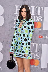 February 20, 2019 - London, United Kingdom of Great Britain and Northern Ireland - Lilah Parsons arriving at The BRIT Awards 2019 at The O2 Arena on February 20, 2019 in London, England  (Credit Image: © Famous/Ace Pictures via ZUMA Press)