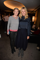 Left to right, sisters Chiara Evetts and Marina Fogle at a private screening of Jackie hosted by Rosie Nixon and Tabitha Webb at the Bulgari Hotel, 171 Knightsbridge, London,  England. 12 January 2017.