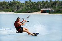 young and talented kitesurfer in brazil tatajuba, Jericoacoara ceara