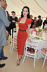 DITA VON TEESE at the Cartier Queen's Cup Polo Final, Guards Polo Club, Windsor Great Park, Berkshire, on 17th June 2012.