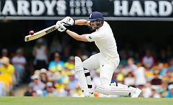 England's Dawid Malan plays a shot during day two of the Ashes Test match at The Gabba, Brisbane.