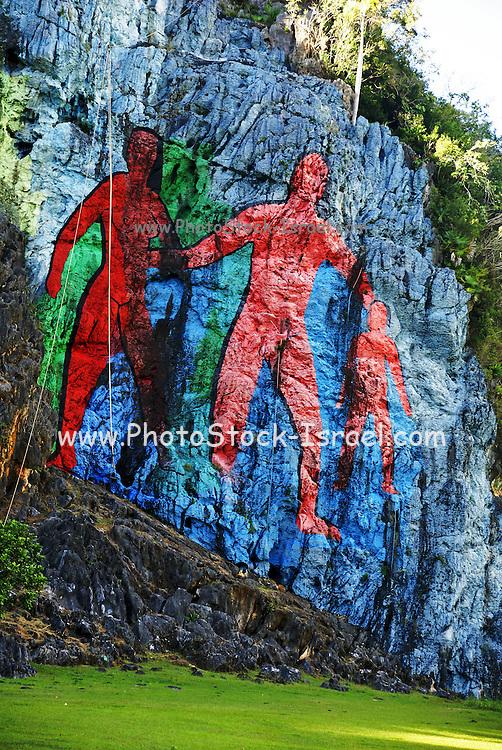 Mural de la Prehistoria (Prehistory) by Leovigildo Gonzalez, Viñales valley, Pinar del Río, Cuba