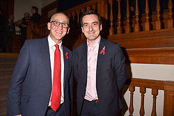 Left to right, Terrence Higgins Trust's Chief Executive Ian Green and Jonathan McShane Chair of Trustee at the Terence Higgins Trust at the Terence Higgins Trust Auction 2017 at Christie's, 8 King Street, St.James's, London England. 11 April 2017.