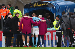 31 December 2017 -  Premier League - Crystal Palace v Manchester City - Steve McManaman looks on as the injured Kevin De Bruyne of Manchester City is helped down the tunnel after the match - Photo: Marc Atkins/Offside