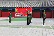 China, Beijing, The Imperial Palace in the Forbidden City. Changing the guard
