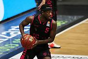 Basketball: Deutschland, 1. Bundesliga, Hamburg Towers -  Telekom Baskets Bonn, Hamburg, 12.02.2021<br /> Josh Hagins (Bonn)<br /> © Torsten Helmke