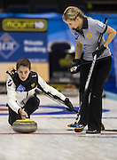"""Glasgow. SCOTLAND.  Russia's """"Vice Skip"""", Uliana VISILEVA, during the Round Robin"""" Games. Le Gruyère European Curling Championships. 2016 Venue, Braehead  Scotland<br /> Monday  21/11/2016<br /> <br /> [Mandatory Credit; Peter Spurrier/Intersport-images]"""