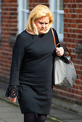 American Airlines cabin crew member Cinthia Struble, 64, of Dallas, Texas, leaves Uxbridge Magistrates Court near London where she faces allegations of arriving over the legal alcohol limit for airline crew at Heathrow Airport on December 28th 2018.. Uxbridge, Middlesex, March 19 2019.