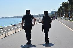 July 13, 2017 - Nice, France - Un an apres lÃ•attaque qui a fait 86 morts et 434 blesses, a la veille de la fete nationale sur la promenade des Anglais a Nice. (Credit Image: © Panoramic via ZUMA Press)