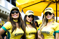 March 10, 2018 - Sao Paulo, Sao Paulo, Brazil - Mar, 2018 - This Saturday (10) at the Autodromo de Interlagos in the city of São Paulo, the Stock Car doubles stage, opening the 2018 season of the competition. In the photo the beautiful promoters of the teams. (Credit Image: © Marcelo Chello via ZUMA Wire)