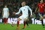 Jamie Vardy of England in action. England v Spain, Football international friendly at Wembley Stadium in London on Tuesday 15th November 2016.<br /> pic by John Patrick Fletcher, Andrew Orchard sports photography.