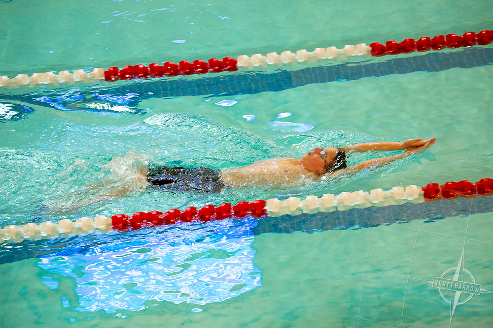 Swimmer in pool.