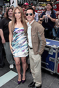 10 June 2010- New York, NY- l to r: Jennifer Lopez and Mark Anthony at The Boys and Girls Clubs of America's (BGCA)' Be Great ' Youth Advocacy Campaign unveling new billboard featuring her childhood picture and inspirational message ' Be Extraordinary ' held at Duffy Square on June 10, 2010 in New York City.
