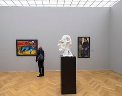 Interior of Albertinum art museum in Dresden Germany