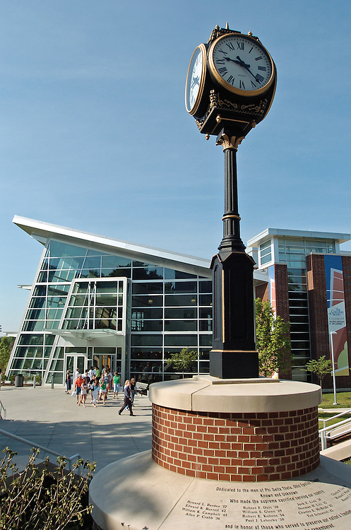 Clock located on the campus of The University of Akron.