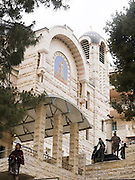 Israel, Jerusalem, Exterior of the Church of Saint Peter in Gallicantu. Roman Catholic church located on the eastern slope of Mount Zion, just outside the city