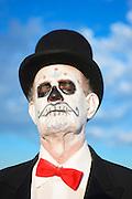 Dia de Los Muertos celebrant in Terlingua, Texas.