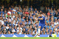 Cesc Fabregas of Chelsea takes a shot at goal. Barclays Premier League, Chelsea v Crystal Palace at Stamford Bridge in London on Saturday 29th August 2015.<br /> pic by John Patrick Fletcher, Andrew Orchard sports photography.