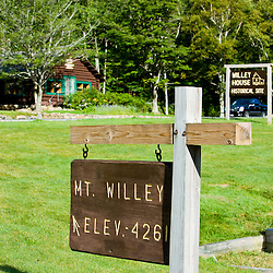 The Willey House site in Crawford Notch State Park in New Hampshire's White Mountains.