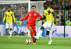 England's Dele Alli and Colombia's Davinson Sanchez during the 1/8 final game between Colombia and England at the 2018 FIFA World Cup in Moscow, Russia on July 3, 2018. Photo by Lionel Hahn/ABACAPRESS.COM