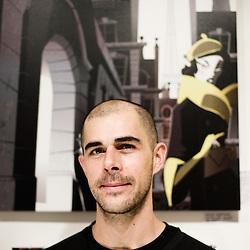 Sebastien Messerschmidt, illustrator. Paris, France. 14 November 2009. Photo: Antoine Doyen