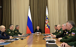 November 19, 2018 - Sochi, Russia - November 19, 2018. - Russia, Sochi. - Russian President Vladimir Putin holds a meeting with top officials of the Defense Ministry of Russia. (Credit Image: © Russian Look via ZUMA Wire)