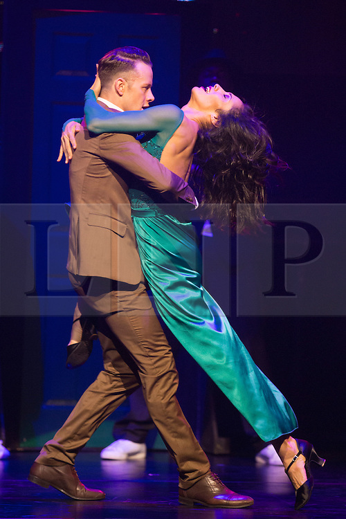 """© Licensed to London News Pictures. 28/05/2014. London, England. Kevin Clifton and Karen Hauer (Strictly Come Dancing). The dance show Flash Mob opens at the Peacock Theatre, London, and features dancers from shows such as """"Strictly Come Dancing"""" and """"Britain's Got Talent"""". With Kevin Clifton and Karen Hauer, Flawless, Tommy Franzen, Brosena and Alleviate. Running until 8 June 2014. Photo credit: Bettina Strenske/LNP"""