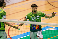 Markus Held of Orion celebrate during the league match between Active Living Orion vs. Amysoft Lycurgus on March 20, 2021 in Doetinchem.