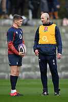 Rugby Union - 2020 Six Nations Championship - England Training Session & Press Conference pre-Ireland<br /> <br /> England assistant coach Steve Borthwick with Owen Farrell, at Pennyhill Park Hotel.<br /> <br /> COLORSPORT/ASHLEY WESTERN