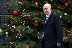 © Licensed to London News Pictures. 19/12/2017. London, UK. Transport Secretary Chris Grayling leaves 10 Downing Street after the weekly Cabinet meeting. Photo credit: Rob Pinney/LNP