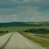 US Highway 191 winds through Wheatland County, Montana