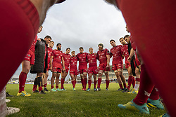 September 22, 2018 - Galway, Ireland - Scarlets rugby players pictured during the Guinness PRO14 match between Connacht Rugby and Scarlets at the Sportsground in Galway, Ireland on September 22, 2018  (Credit Image: © Andrew Surma/NurPhoto/ZUMA Press)