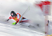 Austrian skiier Martin Marinac falls before a gate during the Visa Birds of Prey World Cup Slalom Saturday December 4, 2005 at Beaver Creek Ski Resort. Marinac did not finish the race and was one of 28 skiiers, including some of the top slalom skiiers, to fall or not finish the first run..(MARC PISCOTTY/ © 2006)