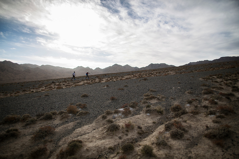 during the inaugural 2015 Ultra Trail Gobi Race, China.