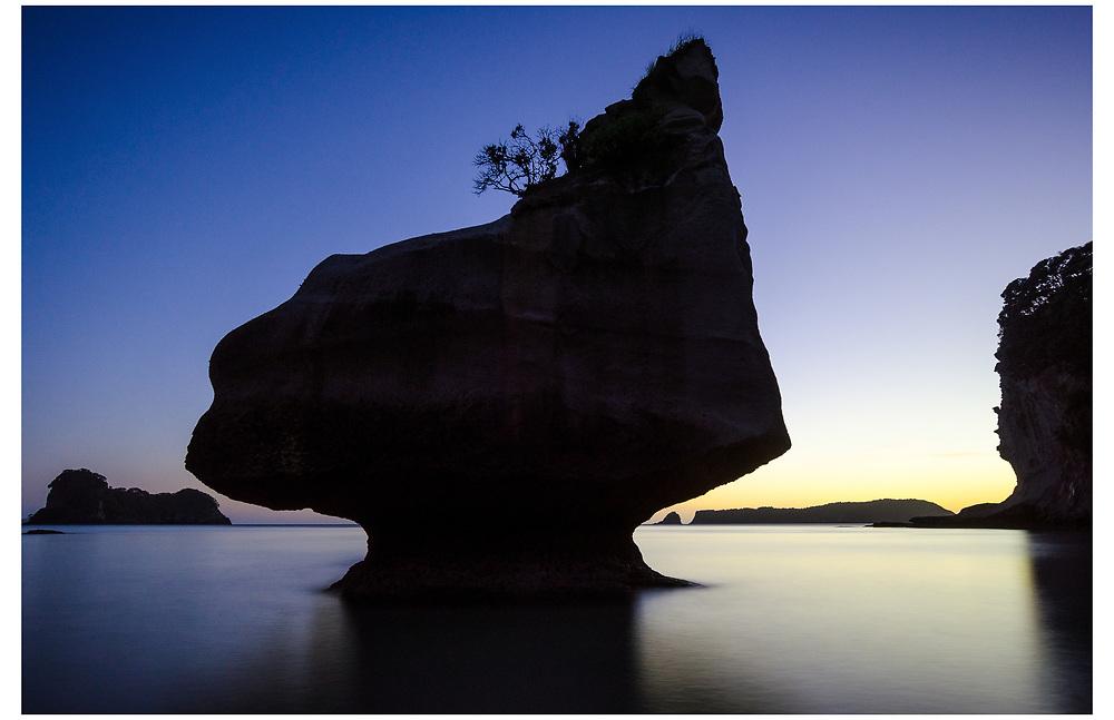 Smiling Sphinx Rock, Cathedral Cove, Coromandel.