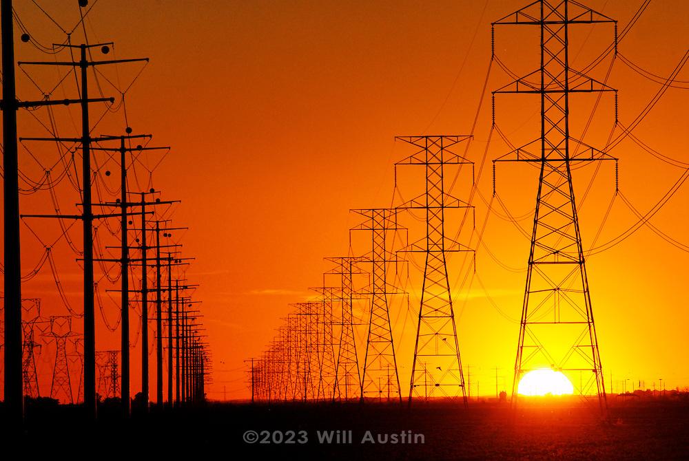 High voltage powerlines near Phoenix Arizona